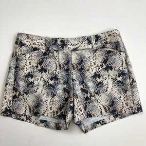 White House Black Market Snake Skin Shorts
